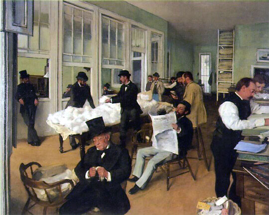 """A Cotton Office in New Orleans,"" by Edgar Degas. 1873"