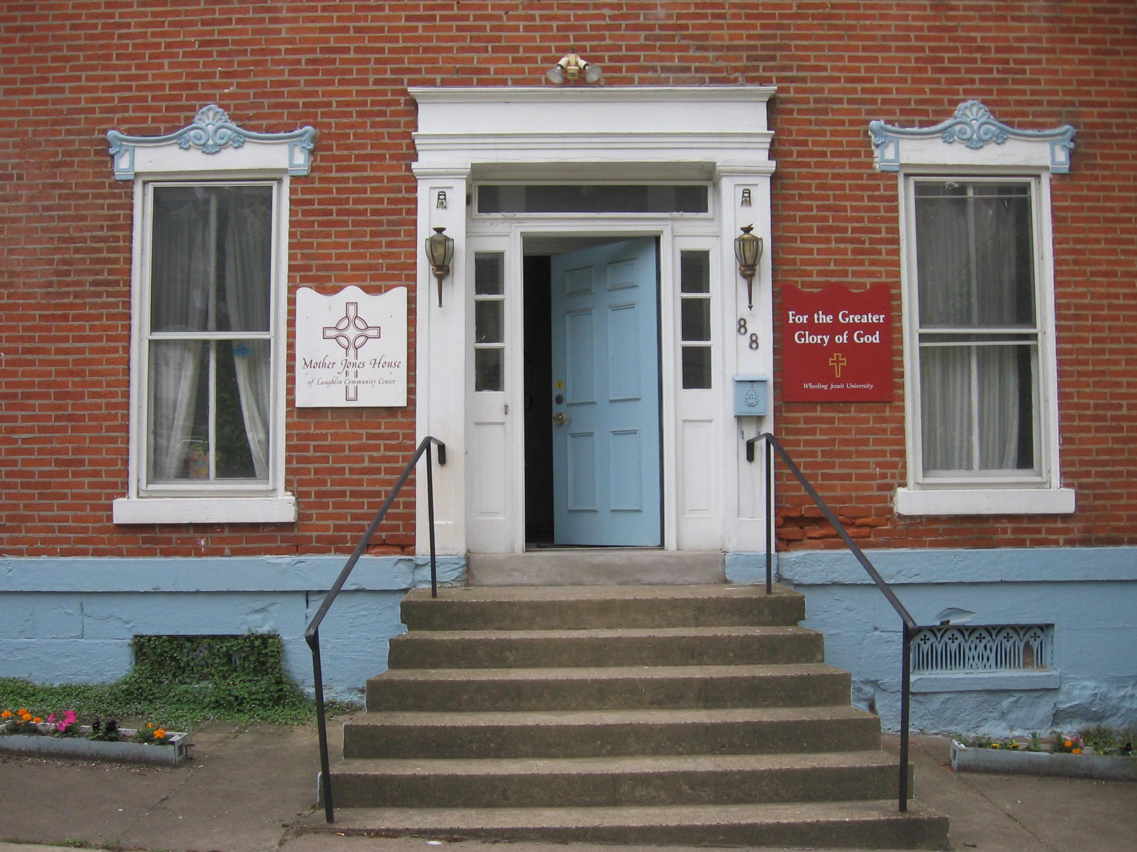 Front door of the Mother Jones House