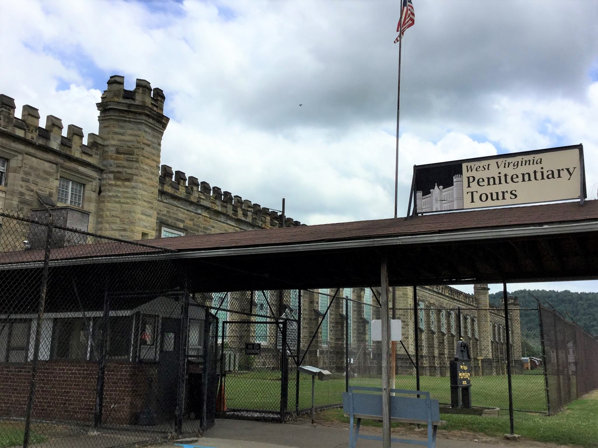 The tour entrance is located on the south end of the penitentiary.