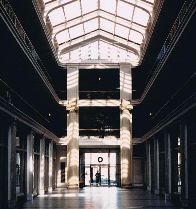 The interior of the Monticello Arcade as it appeared in 1986