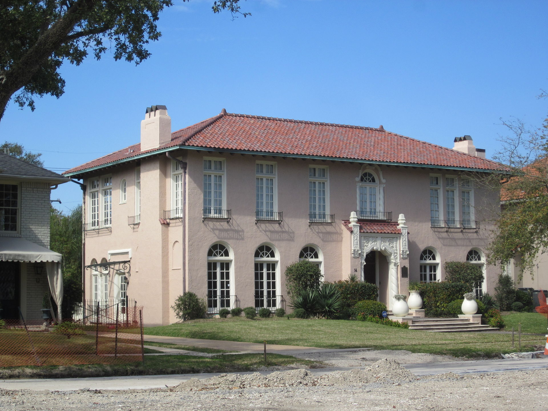 The Huey P. Long Mansion was built in the 1920s.