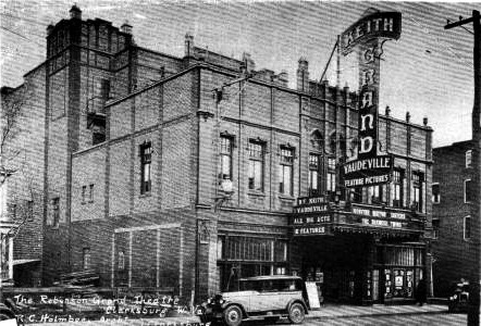 One of the original pictures of The Robinson Grand Theater.