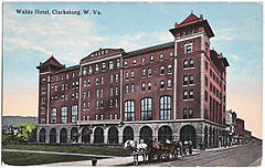 A vintage postcard from the hotel's grand opening