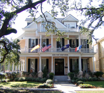 Park View Historic Hotel was designed in the Queen Anne style but features Eastlake and Colonial Revival elements as well.