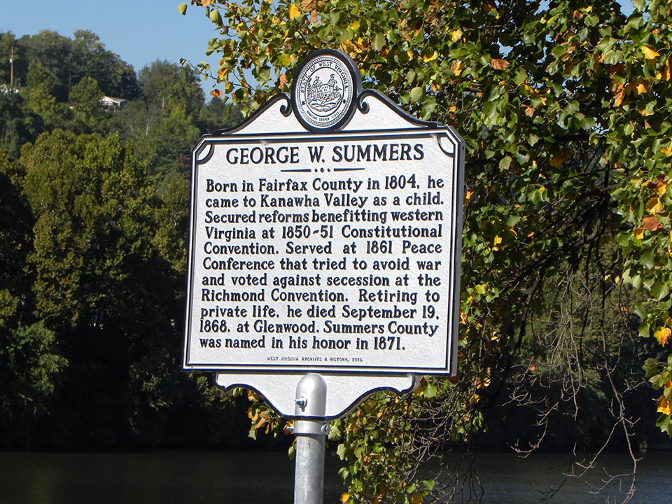 George W. Summers Historic Marker