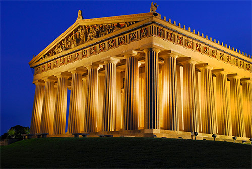 Nashville's replica of the Parthenon was built in 1897 for the Centennial Exposition.