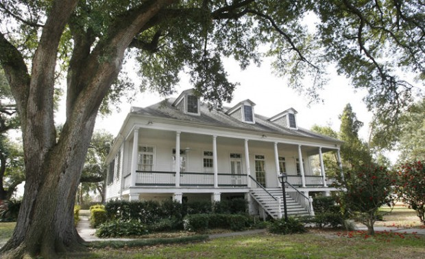 The former LeBeuf Plantation House, now the main officer's residence for the Marines, was built sometime in the 1840s. Photo: Susan Poag of the Times-Picayune.