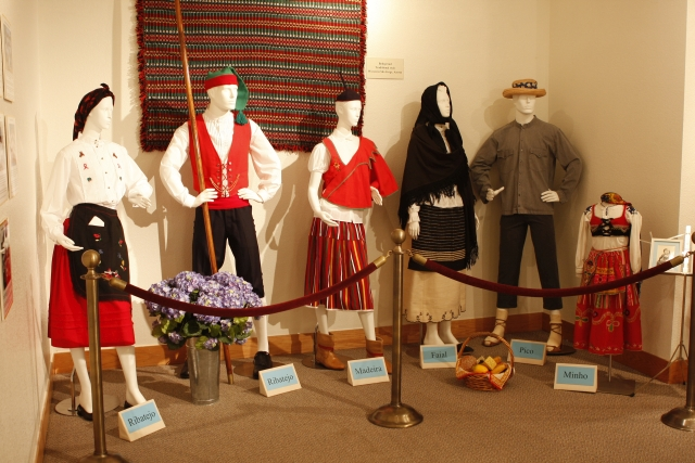 An exhibit featuring traditional Portuguese clothing (image from the Portuguese Historical Museum)