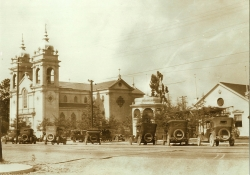 Five Wounds Church and the original Imperio (image from Portuguese Historical Society of California)