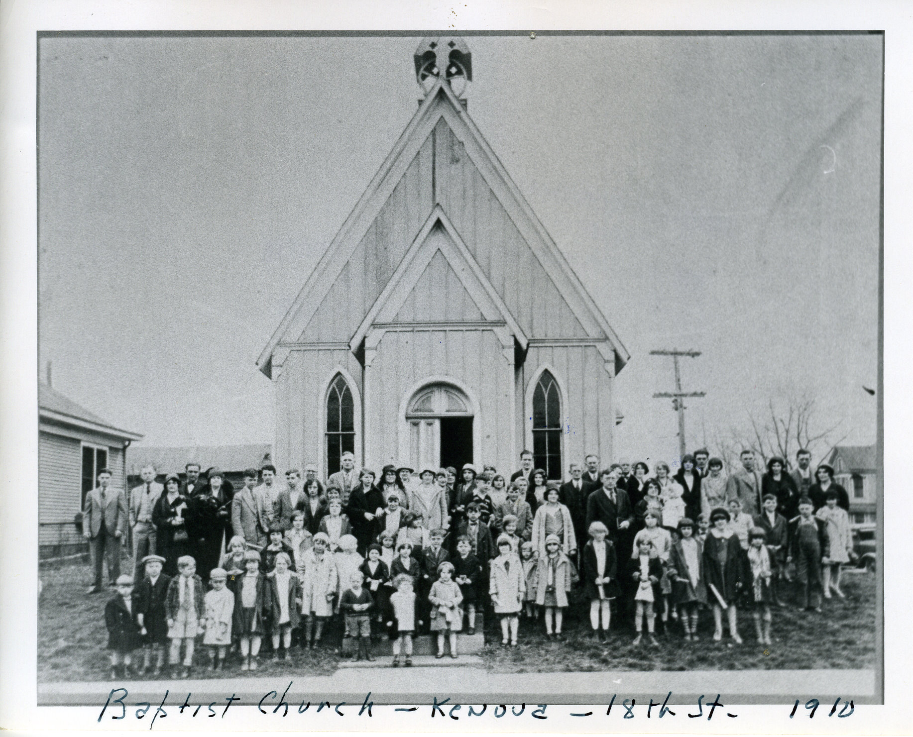 Moved to Kenova from Tornado, West Virginia, this building served as a short-lived Episcopal church before being shared by several denominations including FBCK. Courtesy of the Kenova Historical Commission.