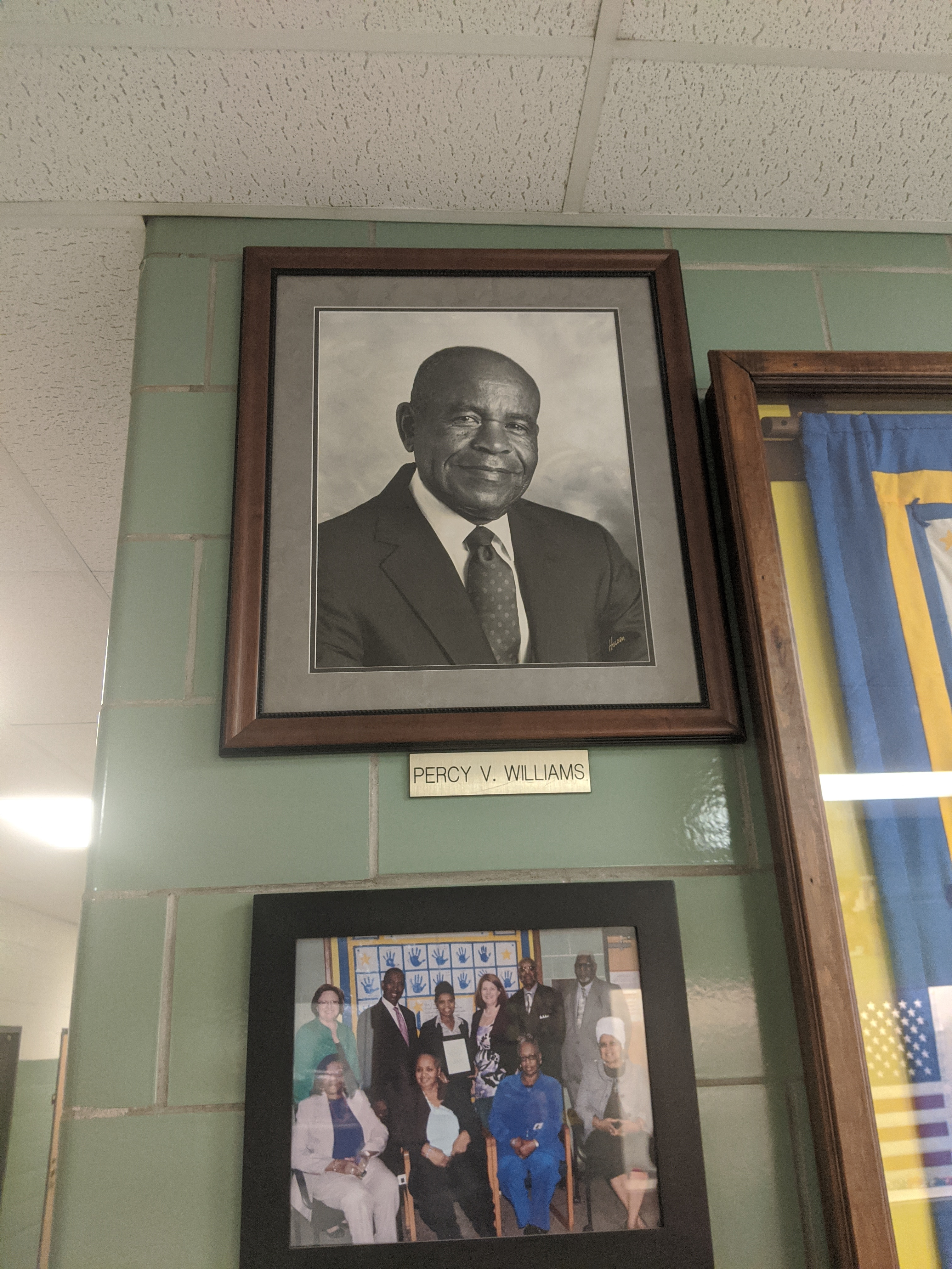 Portrait of Percy Williams currently hanging in the school.