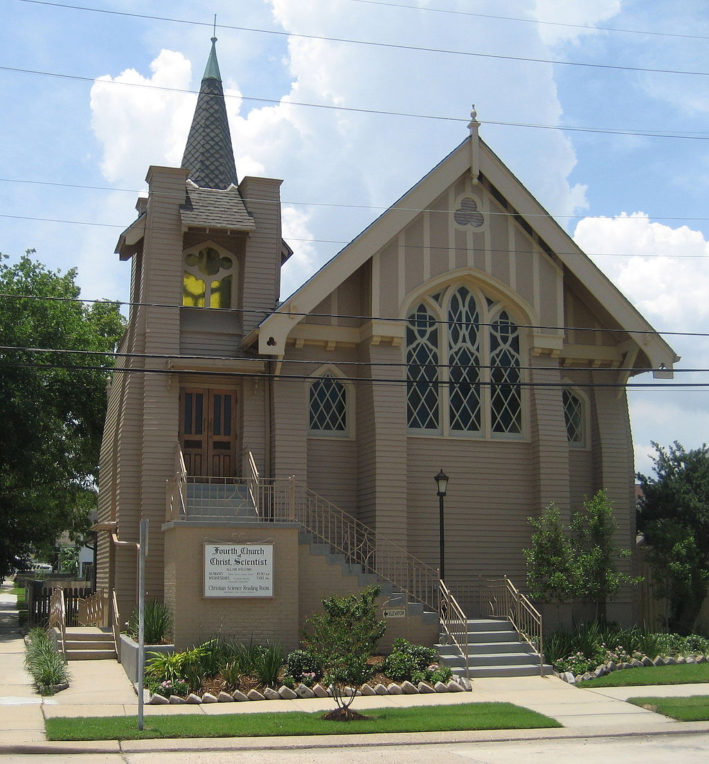 Fourth Church of Christ Scientist was built in 1912 and is architecturally distinct from the rest of the neighborhood.