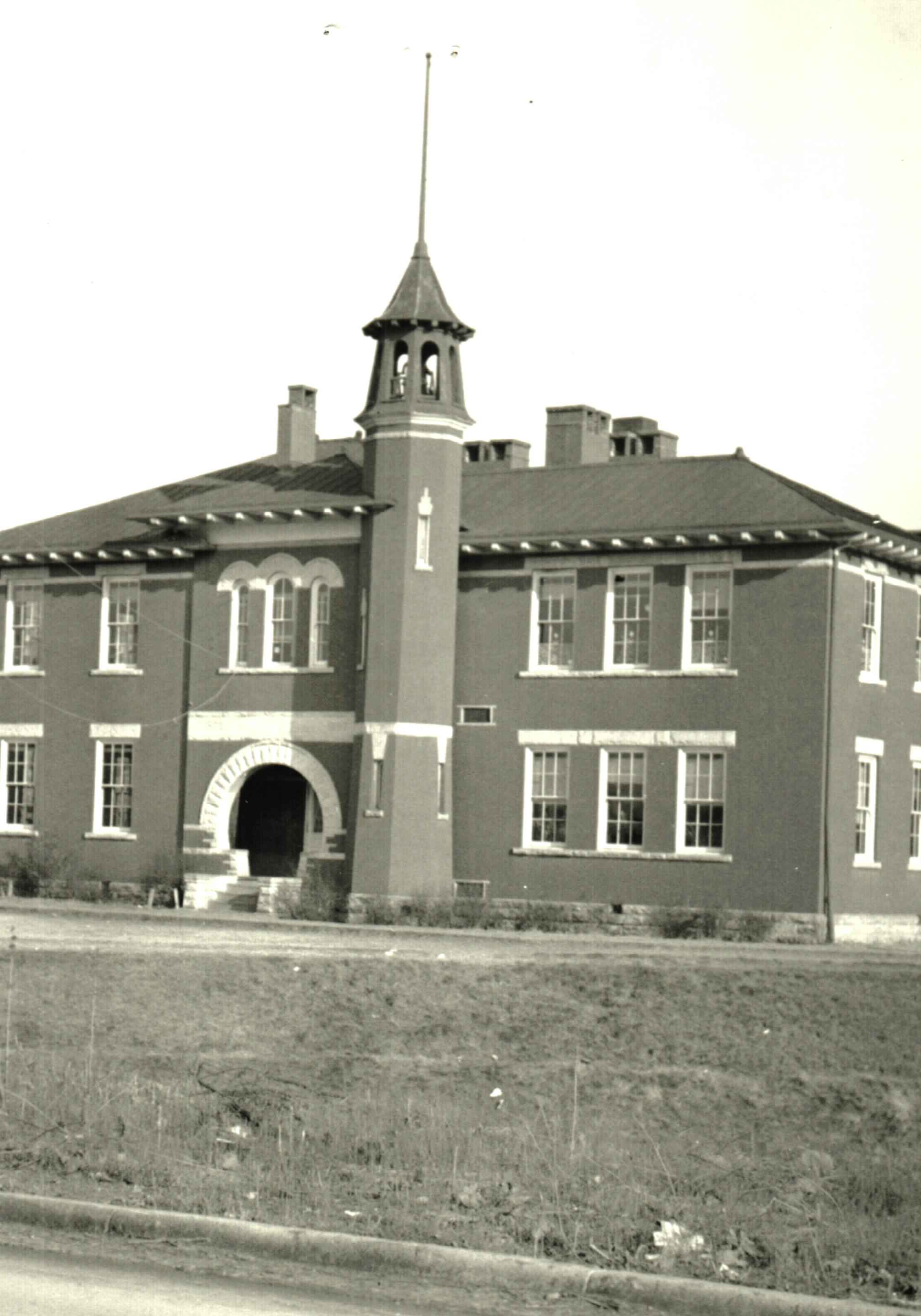 For the first almost thirty years of its existence, C-K High was located in the back rooms of the Ceredo Grade School on Main Street in Ceredo. The building burned down in 1957. Courtesy of the Ceredo Historical Society Museum