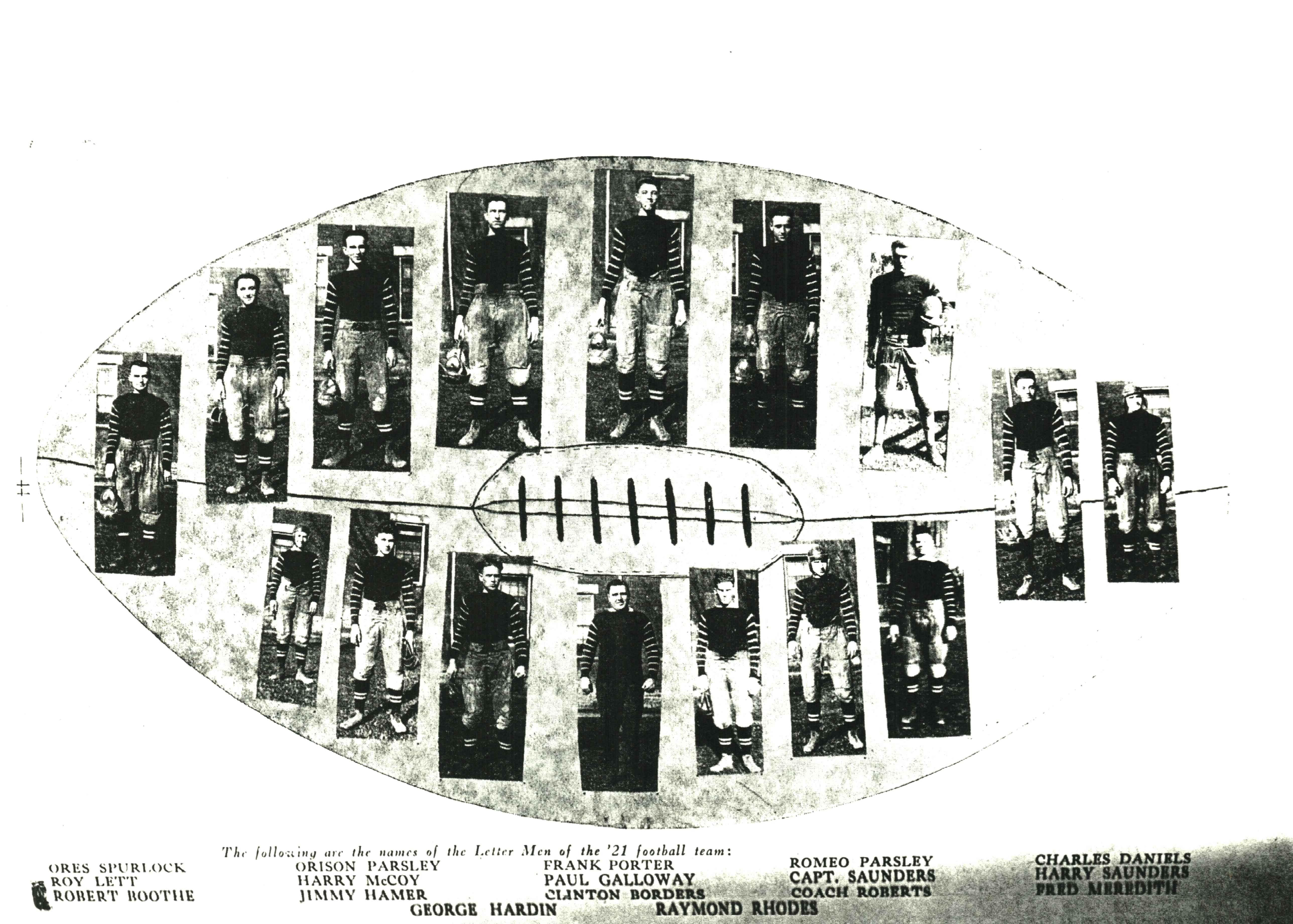 The inaugural 1921 C-K football team. Courtesy of the Ceredo Historical Society Museum.
