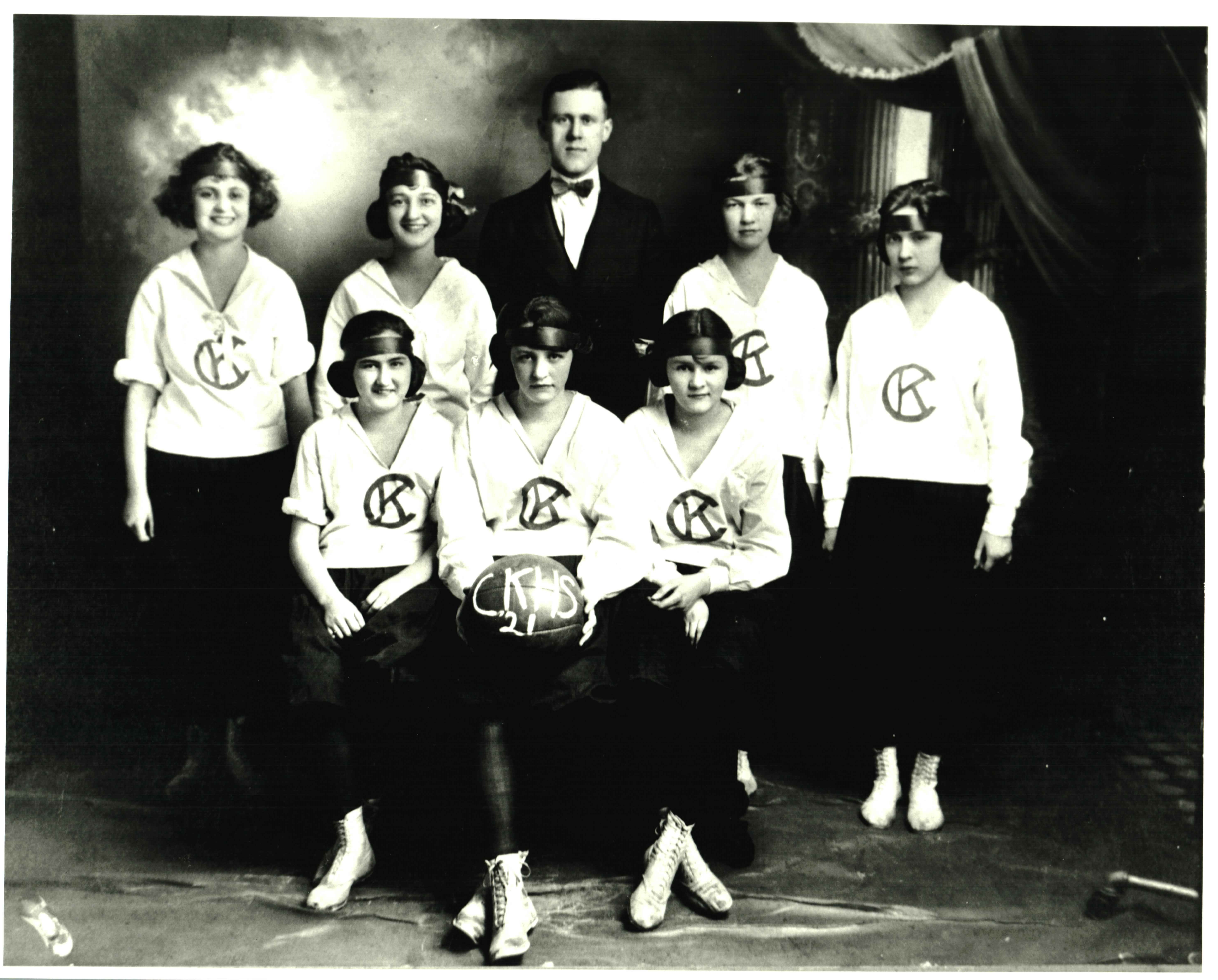 The 1921 Girls Basketball team. Courtesy of the Ceredo Historical Society Museum.