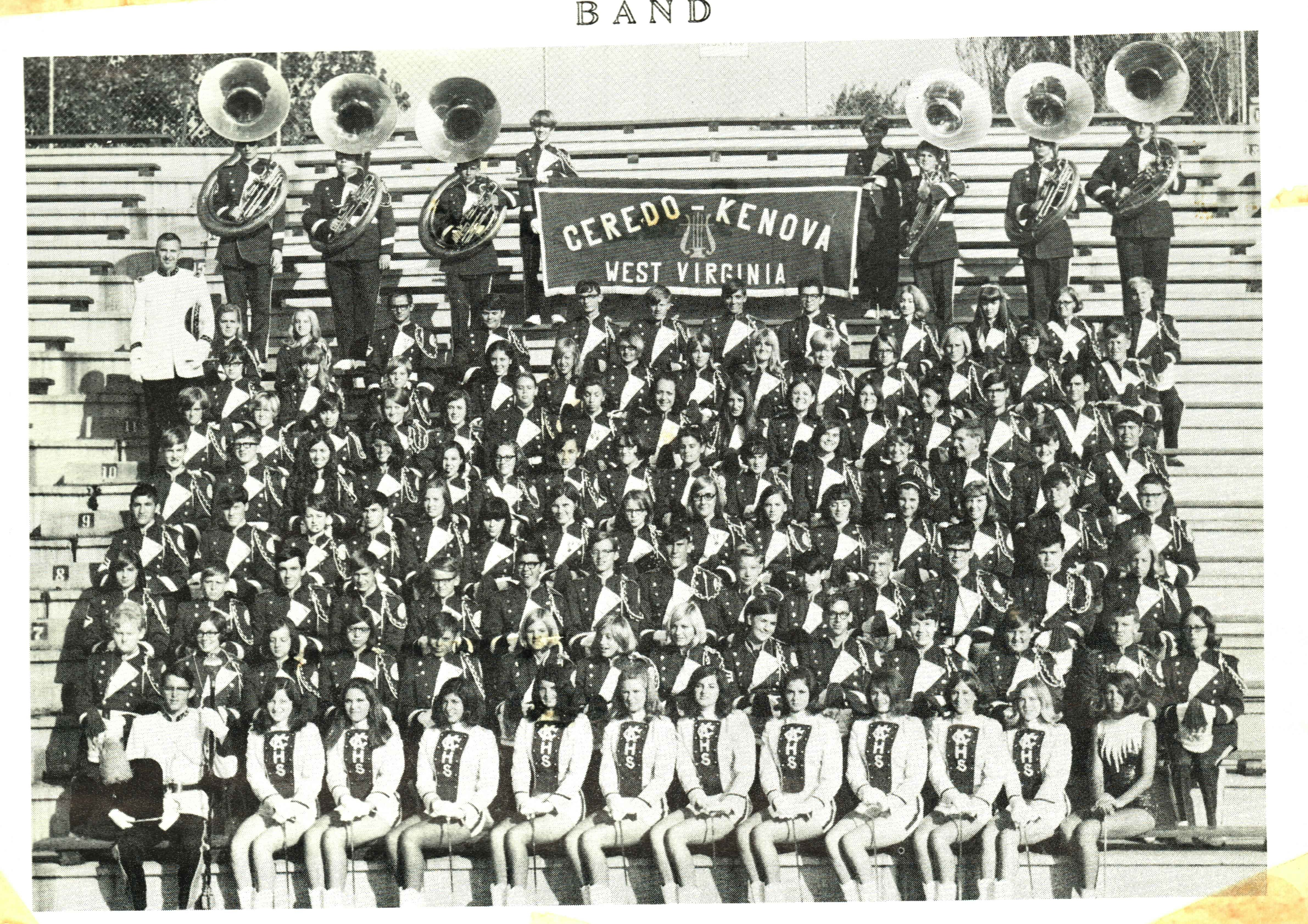 The C-K High marching band. Courtesy of the Ceredo Historical Society Museum.
