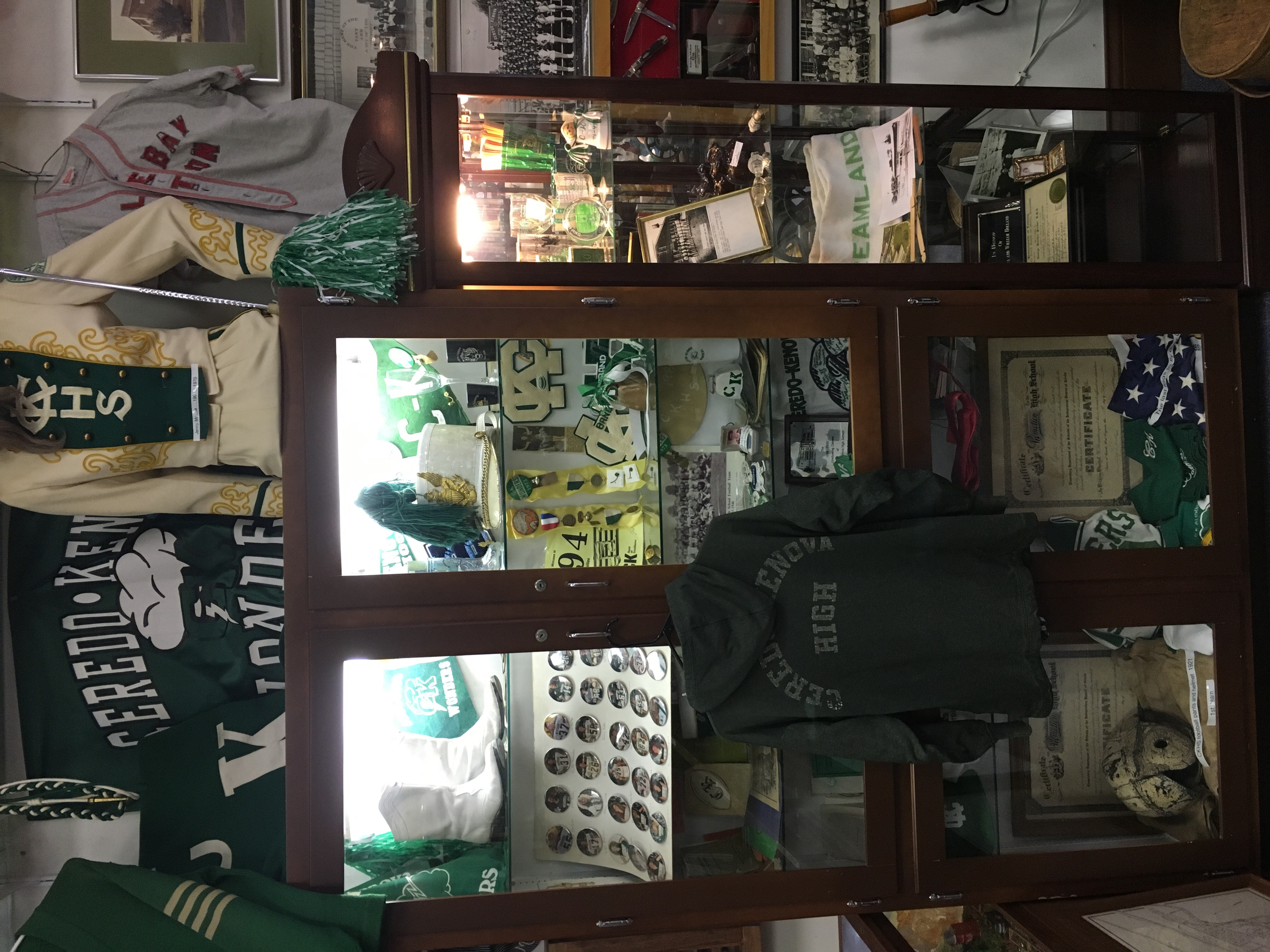 Memorabilia from C-K High is on display at the Ceredo Historical Society Museum, as well as a collection of yearbooks.