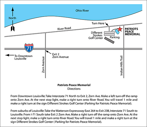 Directions to the Patriots Peace Memorial
