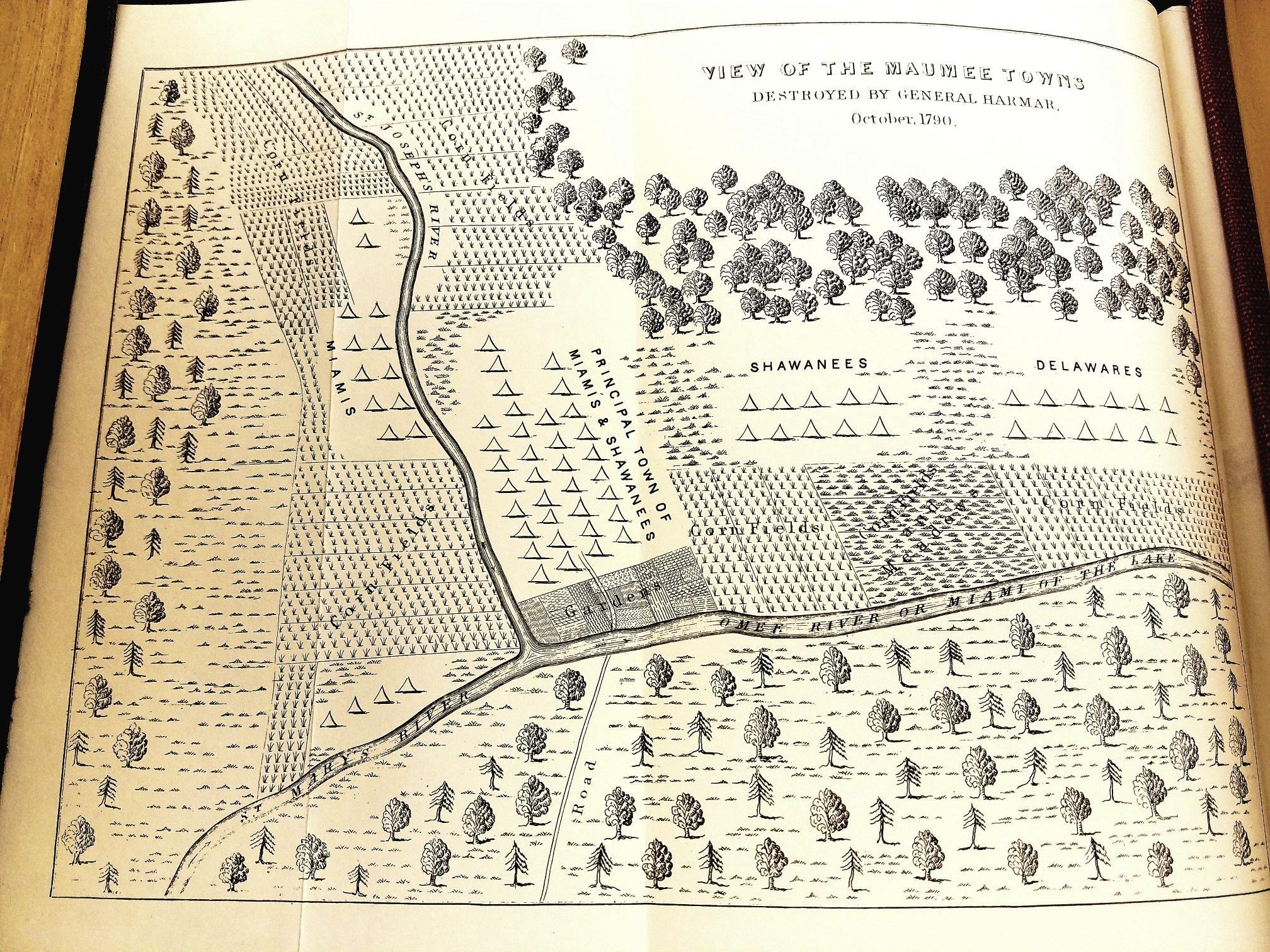 Map of Miamitown (Kekionga) courtesy of Northeast Indiana Public Radio