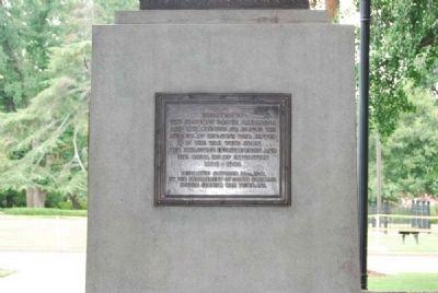 East plaque, Spanish-American War Veterans Monument.