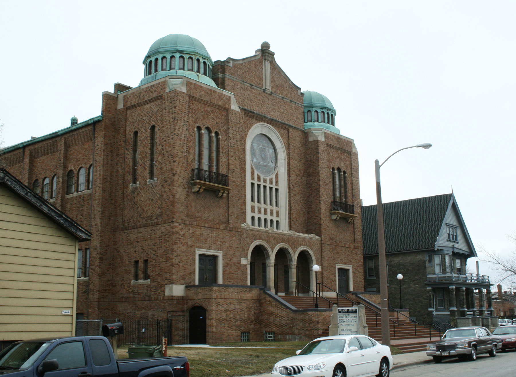 The former house of worship of the Congregation, the home of Greater Galilee Baptist Church since 1960.
