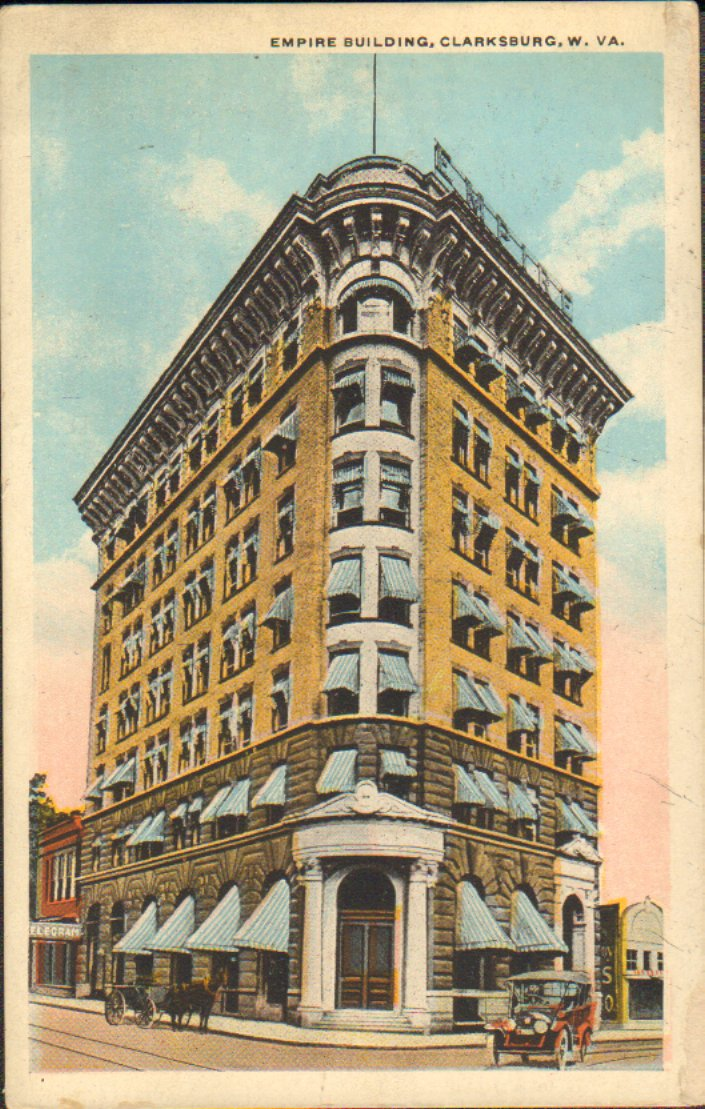 Color postcard of Empire Building.