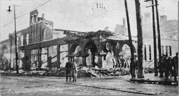The destruction of the Traders Building