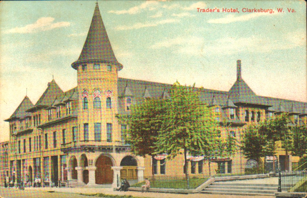 Color postcard of the Traders Hotel.