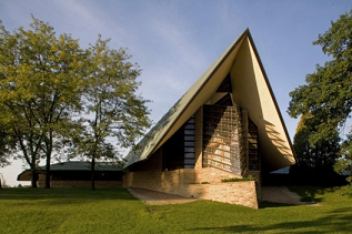 The First Unitarian Society building was designed by Frank Lloyd Wright. Photo: First Unitarian Society