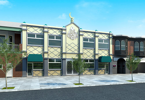 A rendering of the new center. Image: Madinah Community Center