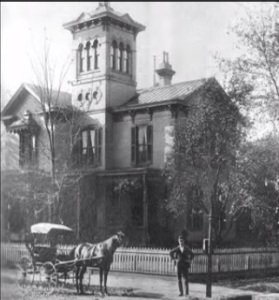 The museum when it was still the Gray family home. From The Lawrence Register.