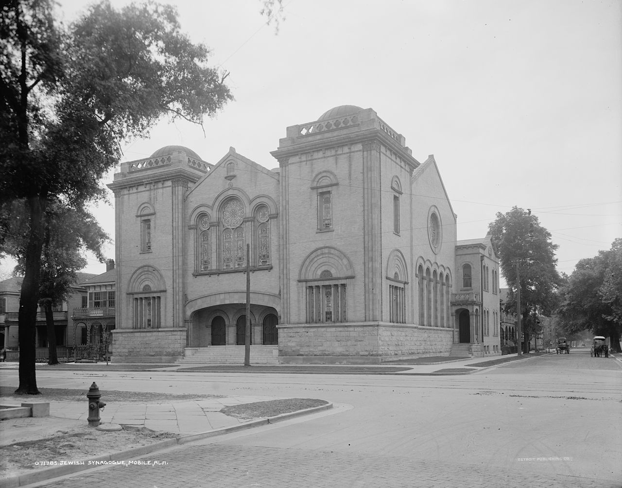 The temple on Government and Warren streets was the home for the Congregation for almost half a century.