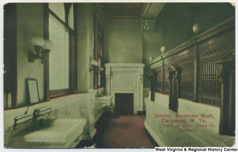 The interior of the Merchants Bank Building