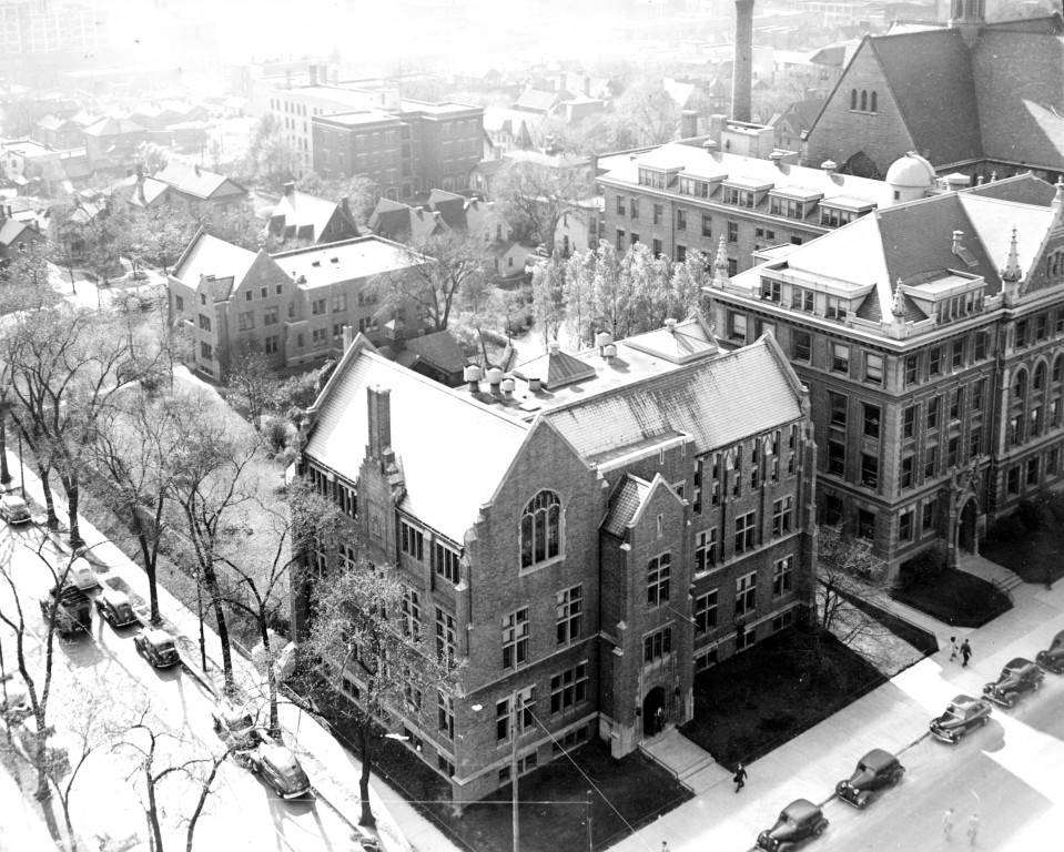 The North and Eastern facades of Sensenbrenner Hall, circa 1935.