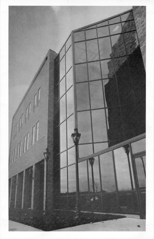 Another view of the 1982-83 addition to the Legal Research Center at Sensenbrenner Hall, 1984.