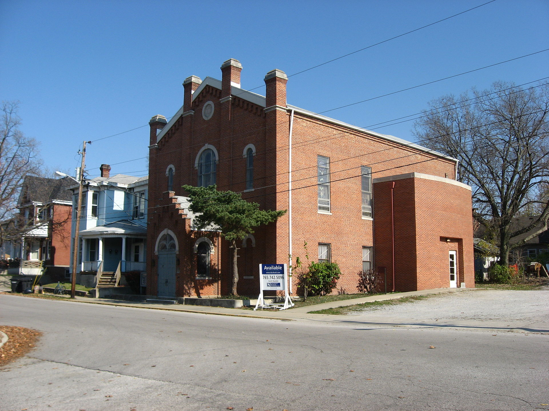 The Congregation's first house of worship, built in 1867.