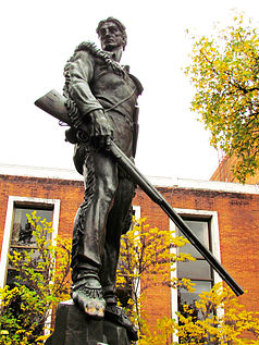 The Mountaineer Statue today.