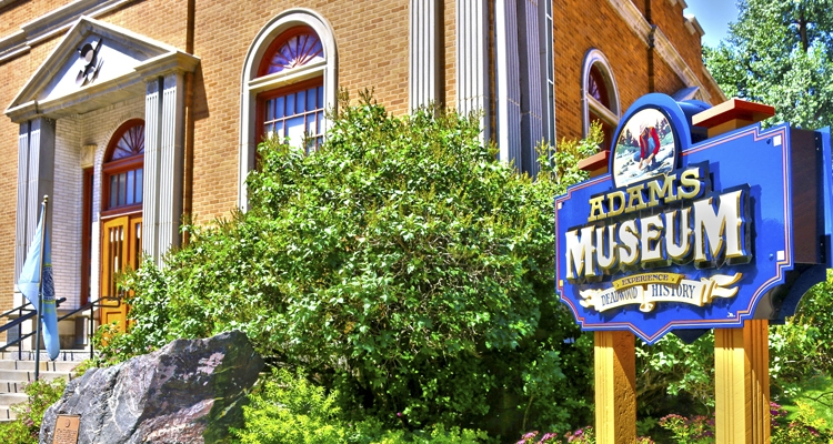 The Adams museum was built in 1930 and showcases local and regional history.