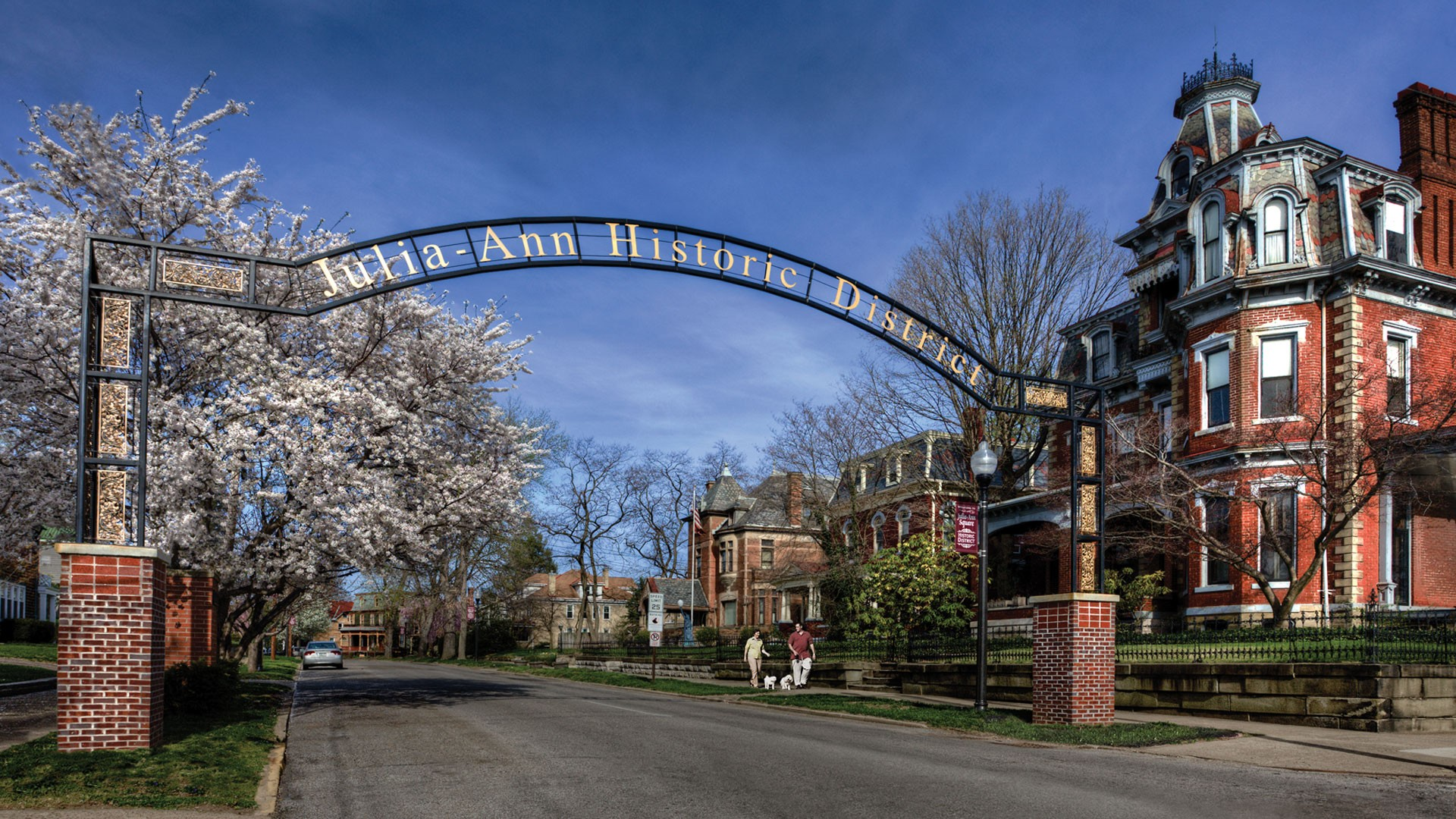 The Julia-Ann Square Historic District Community Association has installed gateway arches at each entrance to the district.