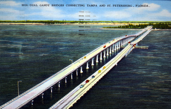 Postcard from 1969 of the bridge.