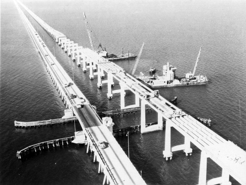 Bridge construction from 1956.