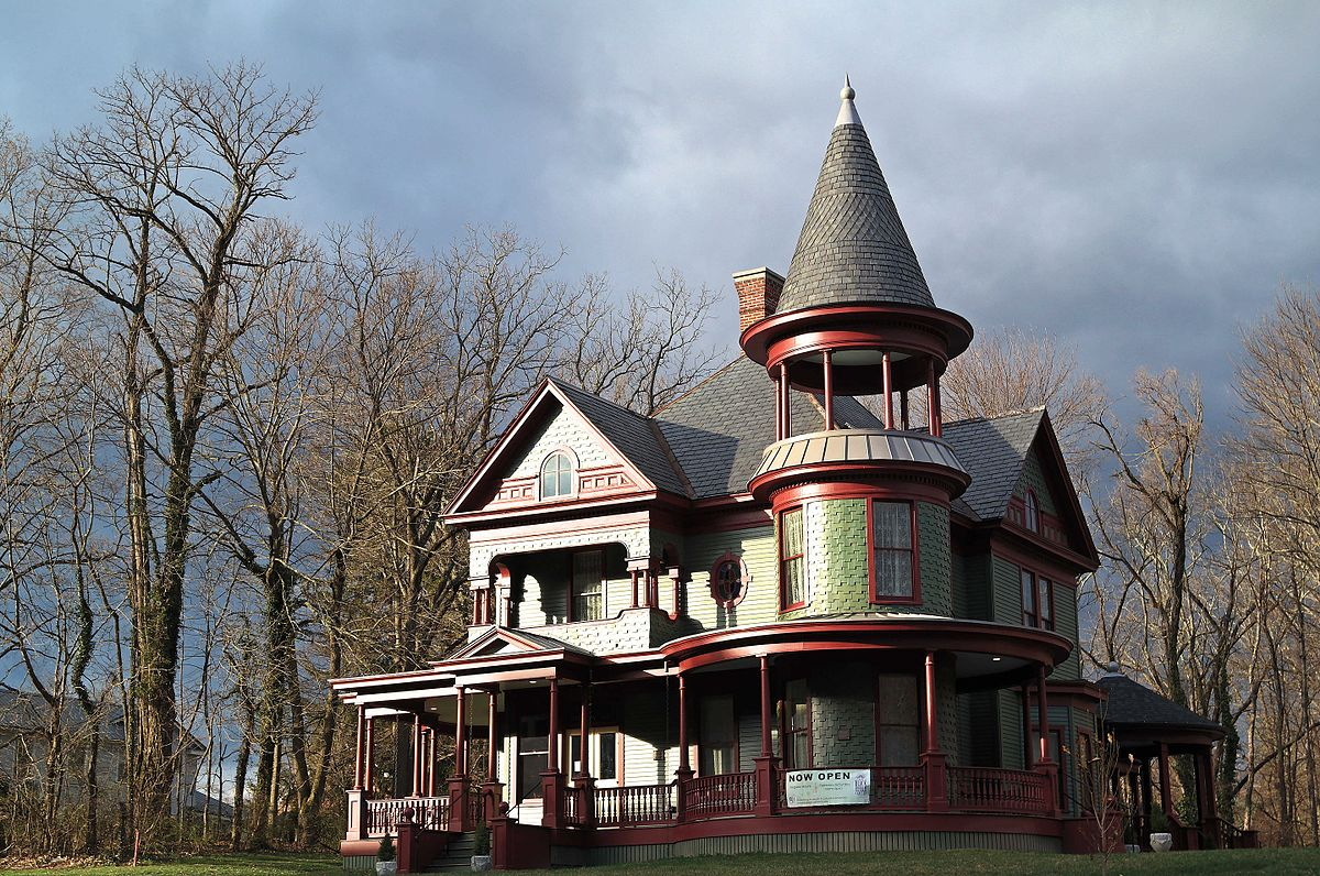 The Alexander Black House in Blacksburg, VA; image by By Smash the Iron Cage - Own work, CC BY-SA https://commons.wikimedia.org/w/index.php?curid=39398797