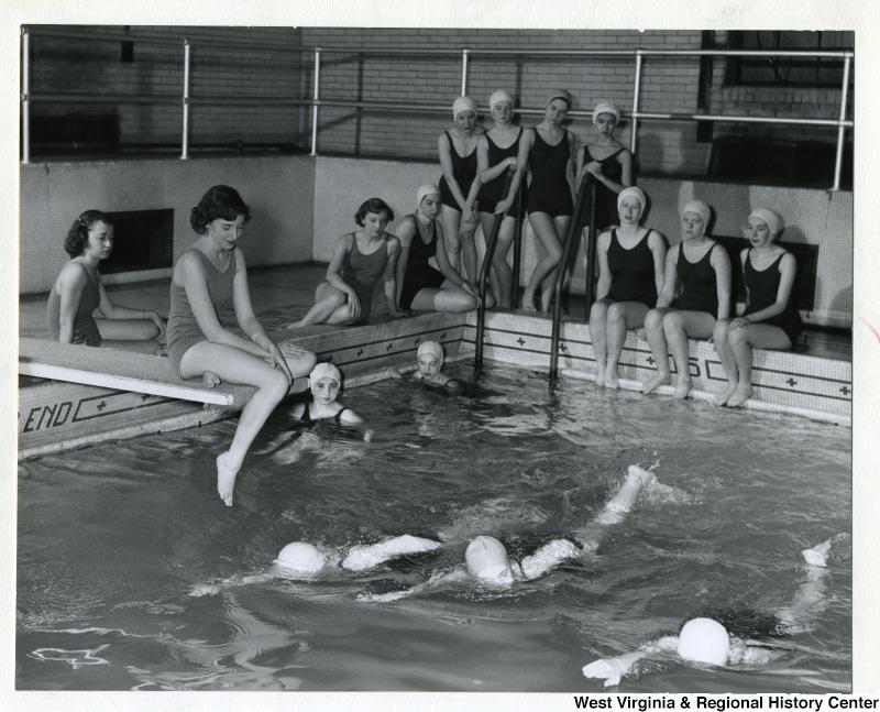 Swimming Class at Elizabeth Moore Hall, West Virginia University