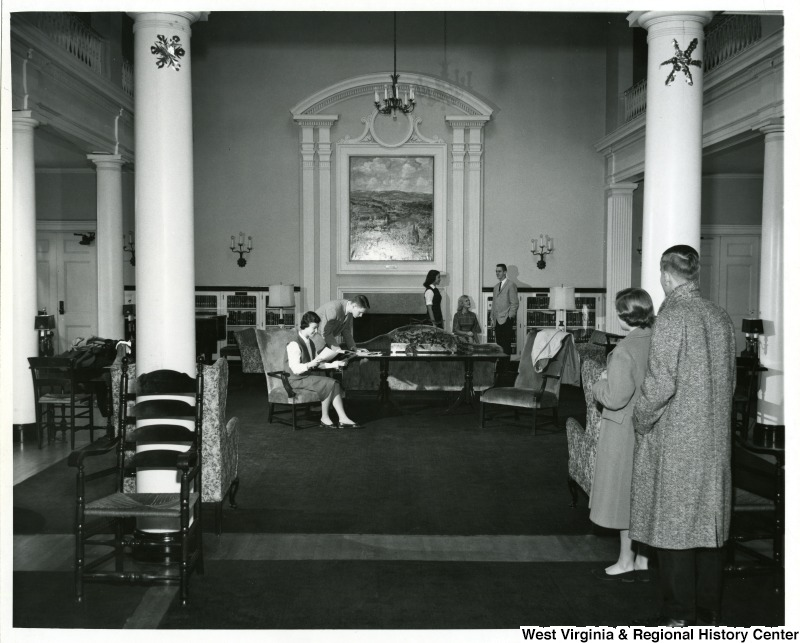 Students in the Front Room, Elizabeth Moore Hall, West Virginia University