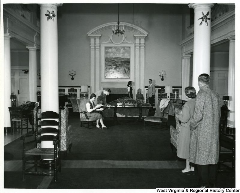 Students in the Front Room, Elizabeth Moore Hall, West Virginia University