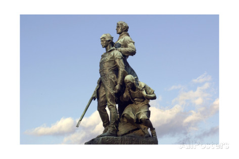 Lewis & Clark and Sacajawea Statue as it looks today