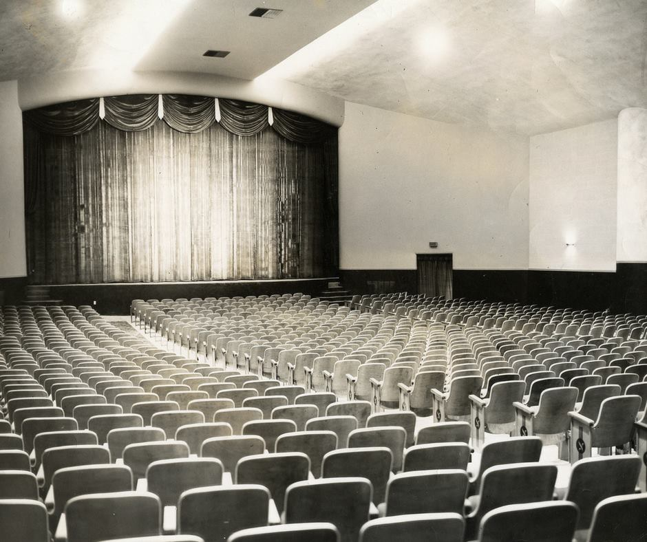 Interior of the theater, main auditorium. Circa 1950s-1960s
