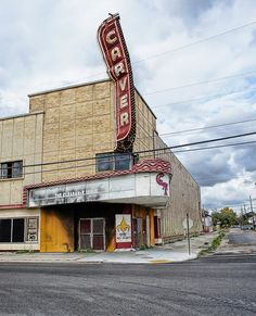 The theater after being hit by Hurricane Katrina