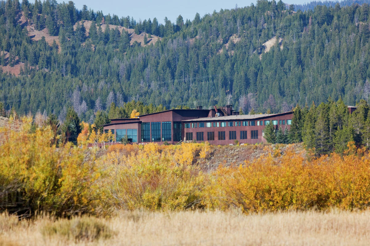 Intentionally designed with a low profile, Jackson Lake Lodge does not detract from the surrounding beauty.
