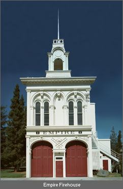 The reconstructed Empire Firehouse in History Park (image from History San Jose)